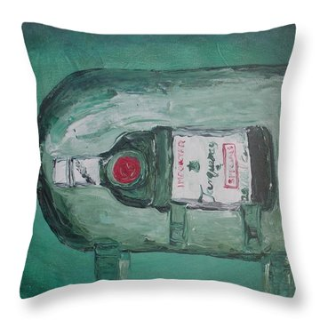 Vintage Tanqueray Throw Pillow