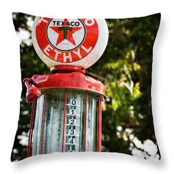 Vintage Texaco Gas Pump Throw Pillow