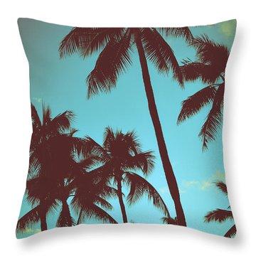 Blue Hawaii Throw Pillows