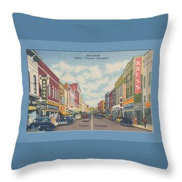 Vintage Va Tn Postcard Kress  Throw Pillow