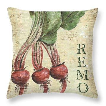 Vintage Vegetables 3 Throw Pillow by Debbie DeWitt