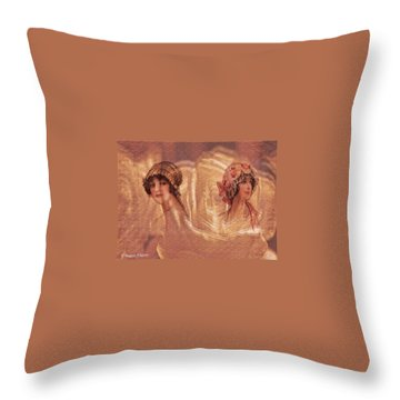 Vintage Victorian Rivals II Throw Pillow