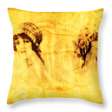 Vintage Victorian Rivals I Throw Pillow
