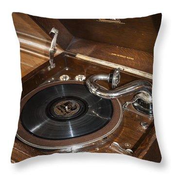 Vintage Vinyl Throw Pillow by Svetlana Sewell
