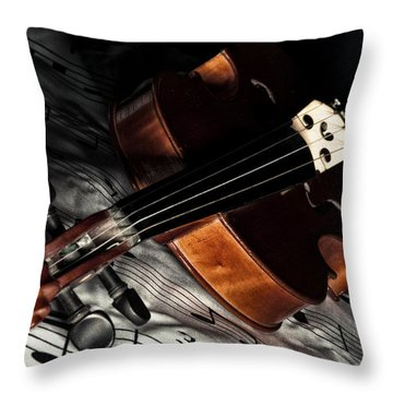 Vintage Violin Throw Pillow
