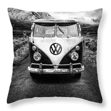 Vintage Vw Camper Throw Pillow