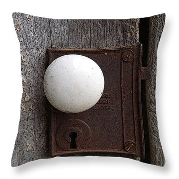 Vintage White Doorknob Throw Pillow