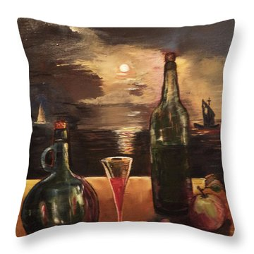Vintage Wine Throw Pillow