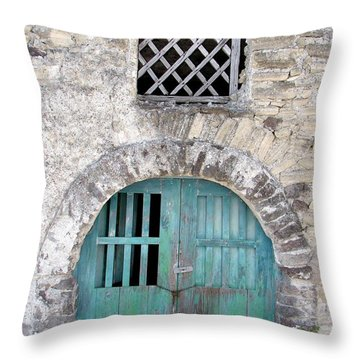Vintage Wine Cellar Throw Pillow