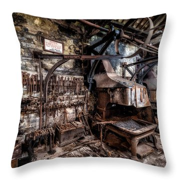 Vintage Workshop Throw Pillow