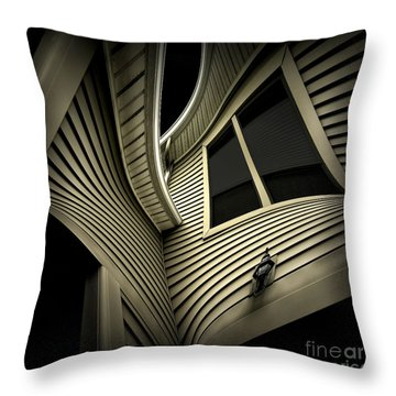 Vinyl Geometry Throw Pillow by Walt Foegelle