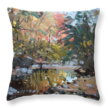 Viola At The Creek Throw Pillow