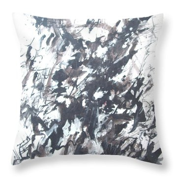 Violence Throw Pillow by Esther Newman-Cohen