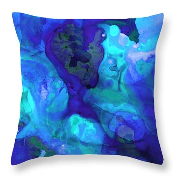 Violet Blue - Abstract Art By Sharon Cummings Throw Pillow by Sharon Cummings