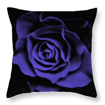 Abstract Blue Roses Flowers Art Work Photography Throw Pillow