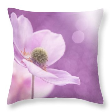 Throw Pillow featuring the photograph Violet Breeze 4x3 by Lisa Knechtel