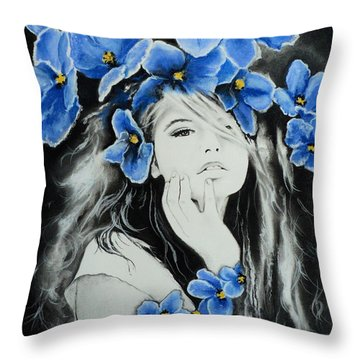 Violet Throw Pillow by Carla Carson