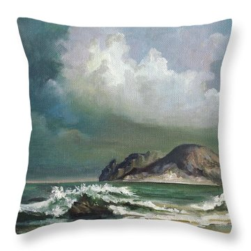 Throw Pillow featuring the painting Violet Cloud by Mikhail Savchenko