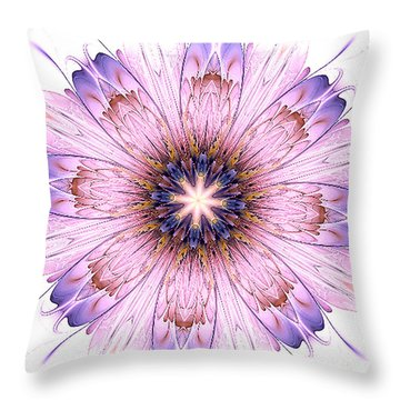Violet Dreams Throw Pillow
