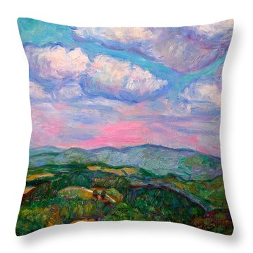 Violet Evening On Rocky Knob Throw Pillow by Kendall Kessler