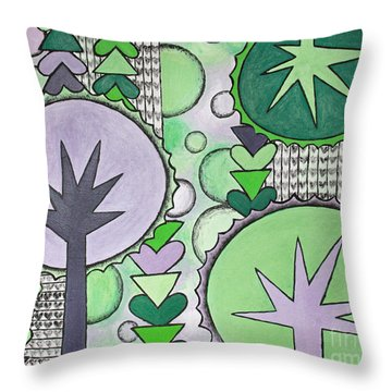 Violet-green Throw Pillow by Home Art