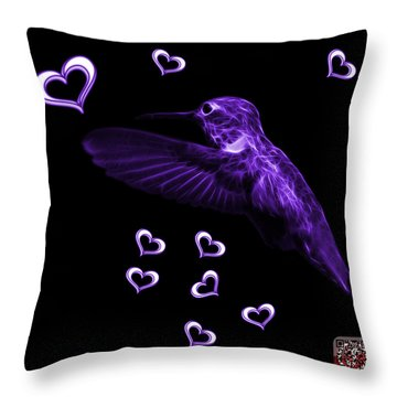 Violet Hummingbird - 2055 F M Throw Pillow