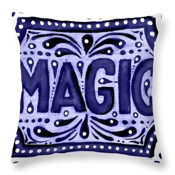 Violet Magic  Throw Pillow