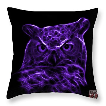 Violet Owl 4436 - F M Throw Pillow by James Ahn