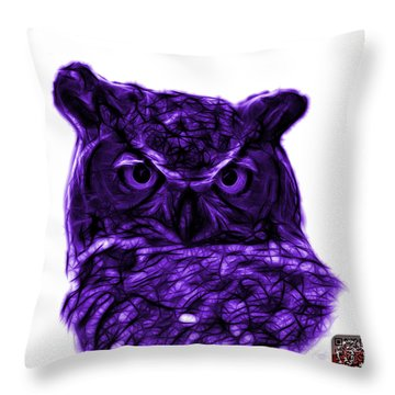 Violet Owl 4436 - F S M Throw Pillow