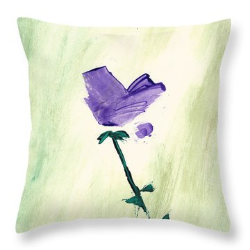 Violet Solo Throw Pillow