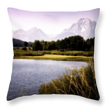 Violet Tetons Throw Pillow