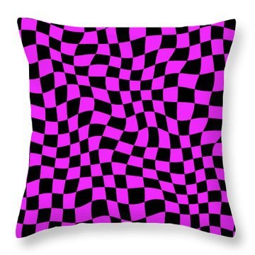 Violet Warped Polygons Throw Pillow by Daniel Hagerman