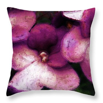Violets No. 2 Throw Pillow
