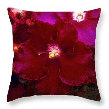 Violets No. 3 Throw Pillow