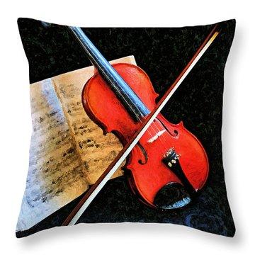 Violin Impression Redux Throw Pillow