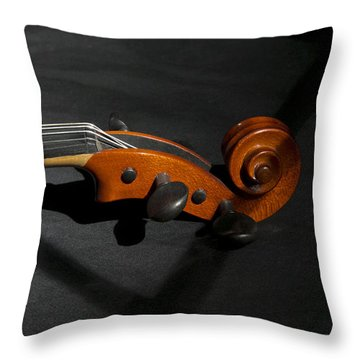 Violin In Shadow Throw Pillow by Mark McKinney