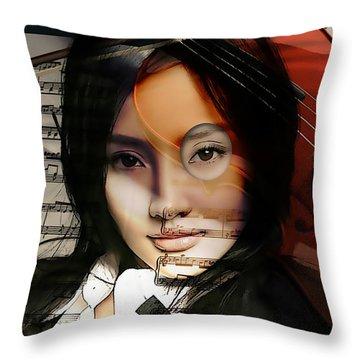 Violin Painting Throw Pillow
