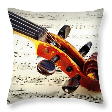 Violine Throw Pillow by Chevy Fleet