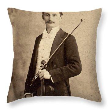 Violinist, C1900 Throw Pillow