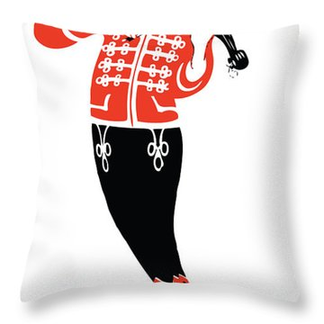 Violinist Throw Pillow by Gary Grayson