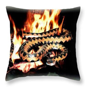 Throw Pillow featuring the digital art Viper by Daniel Janda