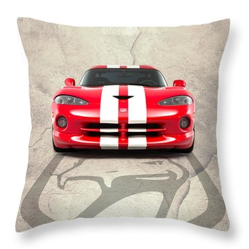 Viper Gts Throw Pillow