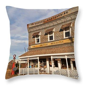 Throw Pillow featuring the photograph Virgelle Mercantile by Sue Smith