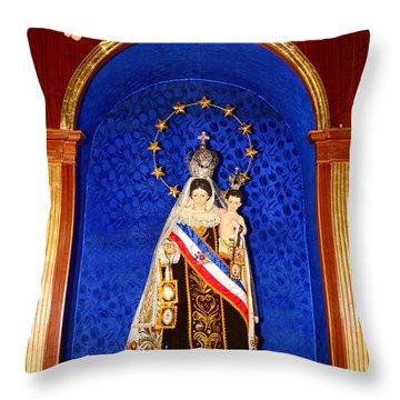 Virgen Del Carmen Chile Throw Pillow