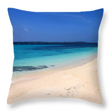 Throw Pillow featuring the photograph Virgin Island Cebu by Joey Agbayani