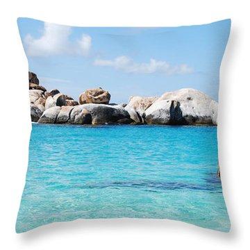 Virgin Islands The Baths Throw Pillow