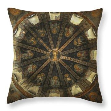 Virgin Mary Cupola Throw Pillow by Taylan Apukovska