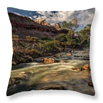Virgin River Throw Pillow by Jeff Burton