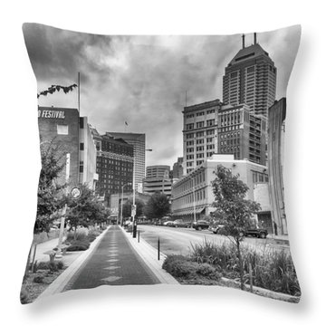 Throw Pillow featuring the photograph Virginia Ave. by Howard Salmon