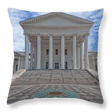 Virginia Capitol Throw Pillow